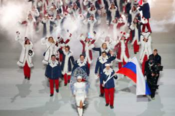 epa05667160 (FILE) A file picture dated 07 February 2014 of Team Russia with flag bearer Alexander Zubkov (R) during the Opening Ceremony of the Sochi 2014 Olympic Games at the Fisht Olympic Stadium in Sochi, Russia. According to a report presented by Richard McLaren, a member of the independent commission of the World Anti-Doping Agency (WADA), on 08 December 2016 in London, Britain, more than 1,000 Russian athletes were involved in state-sponsored doping since 2011, news reports stated. EPA/BARBARA WALTON *** Local Caption *** 52752831