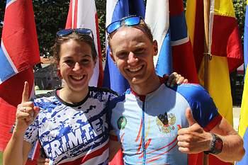 Anton Foliforov e Emily Benham 'sprintam' para a vitória em Cantanhede.
