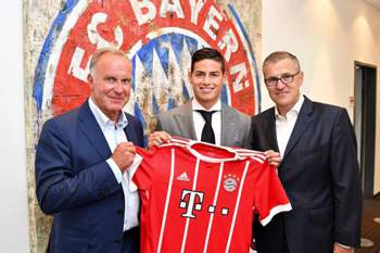 James no Bayern de MUnique