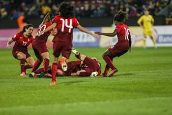 Futebol: Festejos da seleção feminina de Portugal