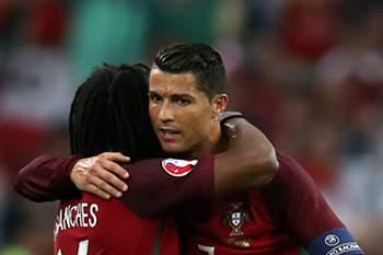 Renato Sanches e Ronaldo