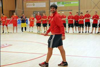 Guarda-redes da equipa de hóquei em patins do Basileia.