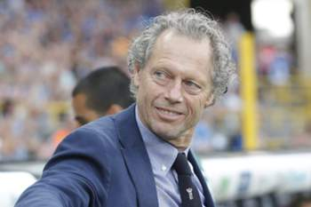 epa04873300 Club Brugge's head coach Michel Preud'homme before the UEFA Champions League third qualifying round second leg soccer match between Club Brugge and Panathinaikos Athens at the Jan Breydelstadion in Brugge, Belgium, 05 August 2015.