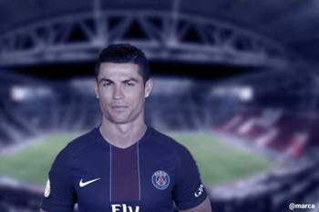 Cristiano Ronaldo com a camisola do PSG
