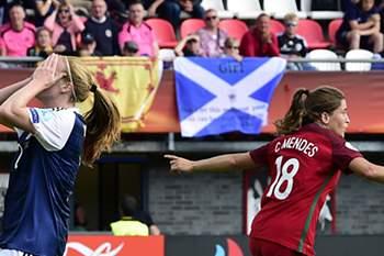 Carolina Mendes fez história ao marcar o primeiro golo de Portugal num Europeu