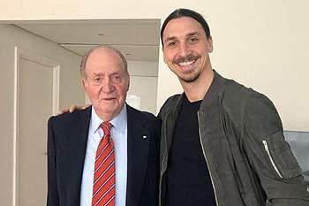Ibrahimovic e Juan Carlos de Espanha