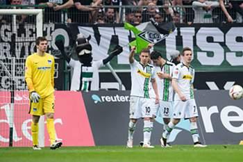 Borussia Monchengladbach festeja golo