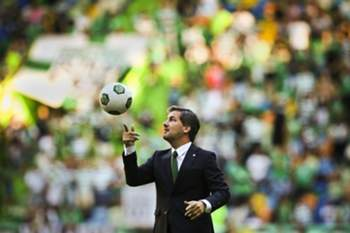 Sporting's President Bruno de Carvalho moments before the team's presentation game against Olympique Lyon at Alvalade Stadium, in Lisbon, Portugal, 23 July 2016. MARIO CRUZ/LUSA