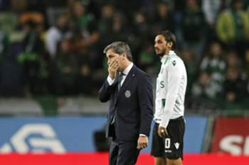 epa05832184 Sporting's President Bruno de Carvalho reacts after his club tied 1-1 with Vitoria de Guimaraes after the Portuguese First League soccer match at Alvalade XXI Stadium in Lisbon, Portugal, 05 March 2017. Bruno Carvalho was re-elected president of Sporting for the next four years, when he won the elections held on 04 March with 86.13 percent of the votes. EPA/MIGUEL A. LOPES