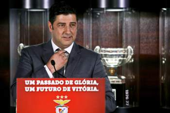 Rui Vitória speaks during his presentation as new head coach of Benfica for the next three seasons, Luz Stadium in Lisbon, Portugal, 15 of June 2015