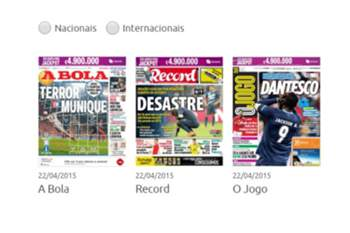Jornais dão eco à derrota do FC Porto