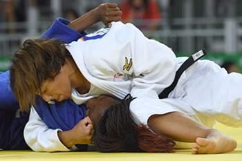 A judoca lusa irá agora lutar com Yingnan Ma
