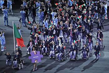 Comitiva portuguesa nos Jogos Paralímpicos do Rio de Janeiro.