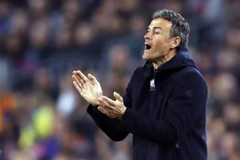 Luis Enrique, treinador do Barcelona