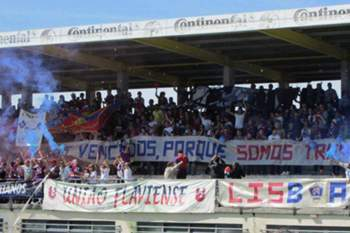 Adeptos do Desportivo de Chaves.