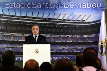 Florentino Pérez, presidente do Real Madrid • JAVIER SORIANO