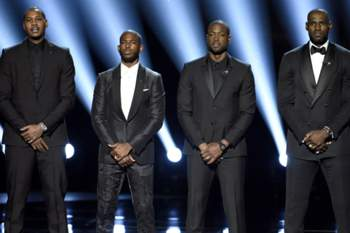 LeBron James, Dwyane Wade, Carmelo Anthony e Chris Paul nos ESPY