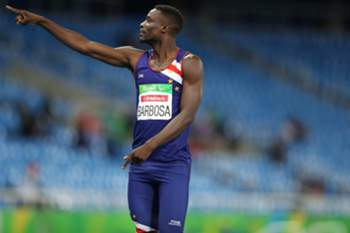 O atleta crioulo conquistou a medalha de bronze na prova dos 400 metros.