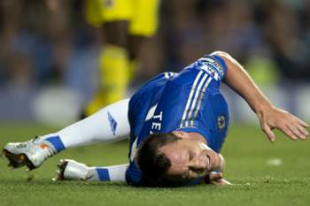 John Terry lesionado no Chelsea-Reading