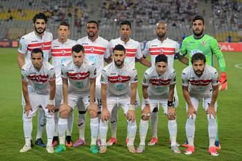 Equipa do Zamalek antes de um jogo da Liga dos Campeões africanos.