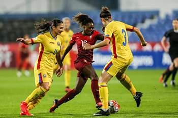 Futebol feminino: Roménia - Portugal