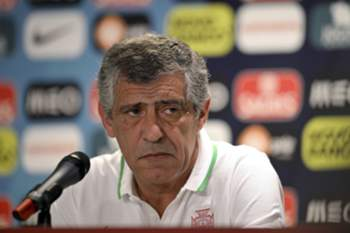 Portugal's national soccer team's head couch Fernando Santos attends to a press conference in view of the upcoming match against Italy at Geneva Stadium, Switzerland, 15 June 2015. Portugal will face Italy in the International friendlies on 16 June. HUGO DELGADO/LUSA