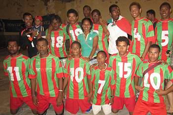 Equipa de andebol do Marítimo Porto Novo