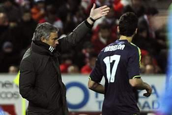 José Mourinho e Álvaro Arbeloa