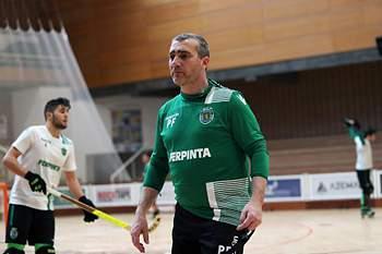 Hóquei em patins: Paulo Freitas num treino do Sporting