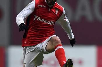 Rafa Silva do SC Braga • Médio de 21 anos em ação contra o Sporting. • Francisco Leong