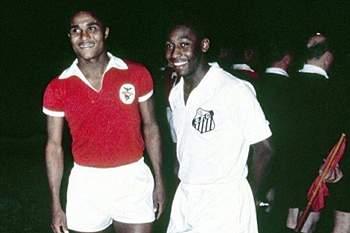 """Pelé: """"Saudades, meu amigo Eusébio"""""""