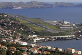 Vista do Aeroporto da Madeira