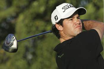 Portuguese golfer Ricardo Melo Gouveia watches his shot on the third day of the Portugal Masters 2012 golf tournament at Oceanic Golf Course in Vilamoura, southern Portugal, 13 October 2012. MELANIE MAP'S / LUSA