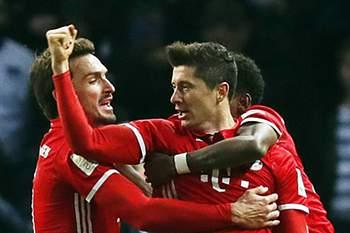 Lewandowski 'salvou' Bayern de uma derrota em Munique aos 96 minutos
