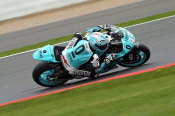 epa05522358 Potugese rider Miguel Oliveira of Leopard Racing Team in action during the Moto2 practice session of the 2016 British Motorcycling Grand Prix at the Silverstone race track, Northampton, Britain, 03 September 2016. EPA/TIM KEETON