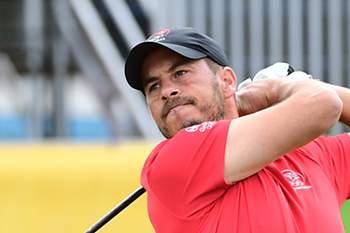 O golfista estreou-se hoje no torneio olímpico de golfe