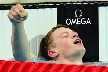 Adam Peaty bate recorde mundial.