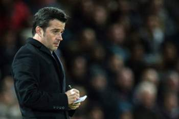 Hull City's manager Marco Silva reacts during the English Premier League soccer match between Manchester United and Hull City held at Old Trafford, Liverpool, Britain, 01 February 2017. EPA/PETER POWELL EDITORIAL USE ONLY. No use with unauthorized audio, video, data, fixture lists, club/league logos or 'live' services. Online in-match use limited to 75 images, no video emulation. No use in betting, games or single club/league/player publications