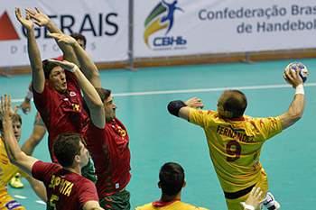 Portugal perdeu com a Espanha por 25-20.