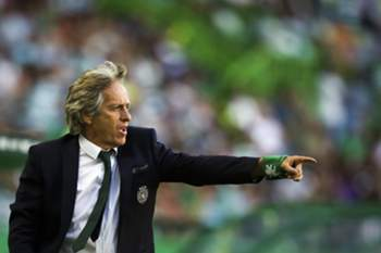 Sporting's head coach Jorge Jesus reacts during the Portuguese First League soccer match against Moreirense held at Alvalade Stadium in Lisbon, Portugal, 10th September 2016. MARIO CRUZ/LUSA