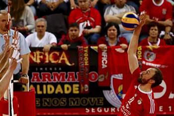 Benfica vs Fonte do Bastardo voleibol