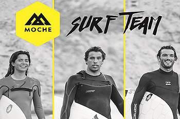 Vasco Ribeiro, Kikas e Teresa Bonvalot no MOCHE Surf Team