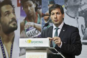 O presidente do Sporting Clube de Portugal, Bruno de Carvalho