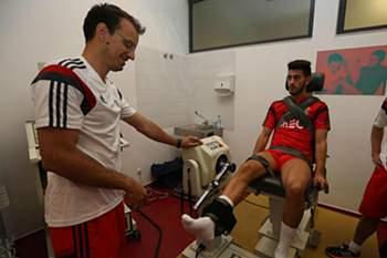 Pizzi e Raúl Jiménez regressaram ao trabalho no Benfica