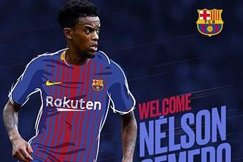 Barcelona oficializa Nelson Semedo