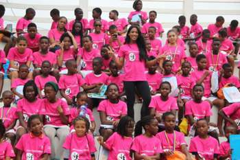 Patrícia Mamona foi embaixadora de Corrida Solidária em Moçambique
