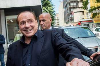 epa04837556 (FILE) A file photo dated 08 June 2015 shows Silvio Berlusconi, former Italian Prime Minister, after a meeting at a trust company in Lugano, Switzerland. Reports on 08 July 2015 state that Silvio Berlusconi has been convicted of bribing a senator in a corruption case by a Naples court. EPA/GABRIELE PUTZU