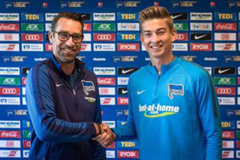 Jonathan Klinsmann assinou pelo Hertha de Berlim