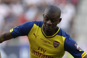 Abou Diaby com a camisola do Arsenal