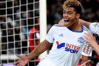 O Marselha acercou-se de PSG e Lyon, no topo da tabela, a dois pontos dos parisienses e a um do segundo classificado, o Lyon.